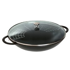 Wok with Glass Lid