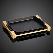 1 Qt Wooden Plate in Black