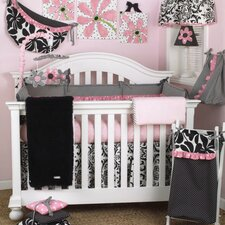 Girly 4 Piece Crib Bedding Set