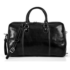 "Perugia 18.5"" Italian Leather Weekender Duffel"