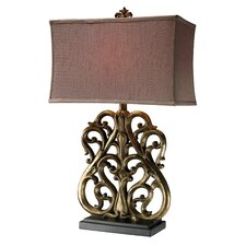 """Roseville 30"""" H Table Lamp with Rectangular Shade"""