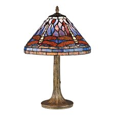 "Dragonfly 18"" H Table Lamp with Empire Shade"