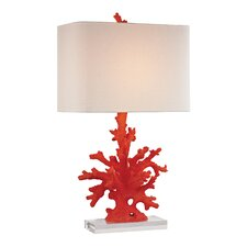 """Coral 28"""" H Table Lamp with Square Shade"""