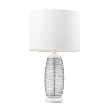 """HGTV Home 23"""" H Table Lamp with Drum Shade"""