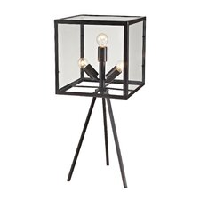 """Workshop Cube 28"""" Table Lamp with Square Shade"""
