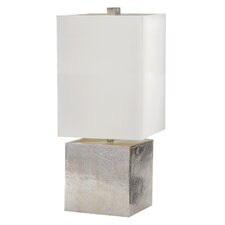 """Cement Cube 24"""" Table Lamp with Rectangular Shade"""