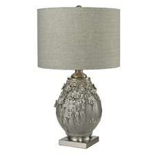"Hand Formed Foliage 27"" Table Lamp with Drum Shade"
