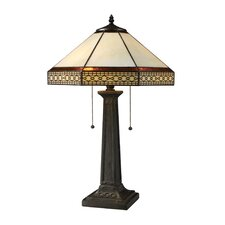 """Stone Filigree 24"""" H Table Lamp with Empire Shade"""