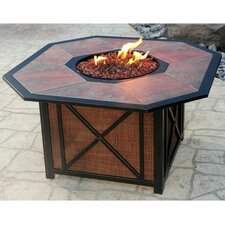 Gas Fire Pit in Antique Bronze