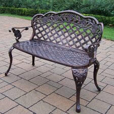 Rose Cast Iron and Aluminum Bench