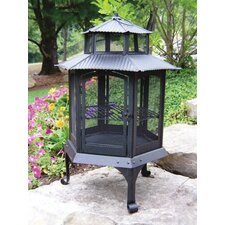 Cast Iron Wood Pagoda Fire Pit
