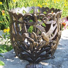 Hummingbird Round Pot Planter