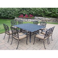 Hampton Square 9 Piece Dining Set with Cushions