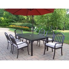 Rochester 7 piece Dining Set with Cushions and Umbrella