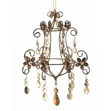 Trousseau Vintage Crystal Chandelier Ornament (Set of 2)