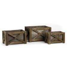 Covered Porch 3 Piece Rectangular Planter Box Set