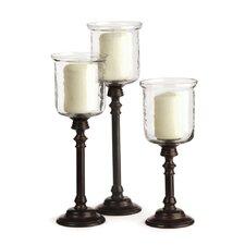 3-Piece Marla Glass Hurricane Set