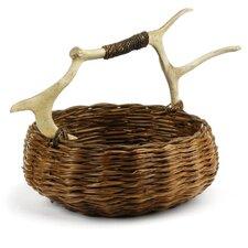Caribou Small Round Basket