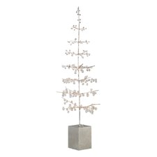 Wonderland Ice Bead Wire Lighted Tree in Pot
