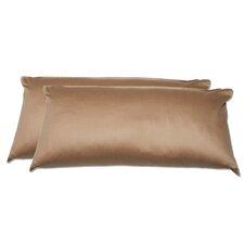 2-tlg. Kissenbezugn-Set Uni Braun aus Baumwolle