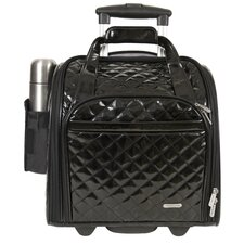 "14"" Rolling Underseat Quilted PVC Carry On"