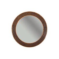 Braided Hand Hammered Round Copper Mirror