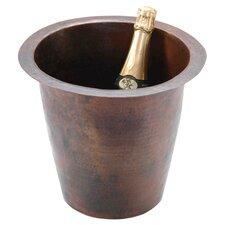 """12"""" x 12"""" Round Hammered Champagne Bar Sink"""