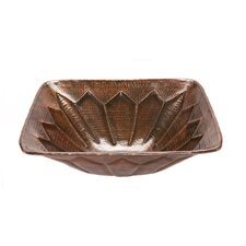 Square Feathered Vessel Bathroom Sink