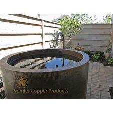 "45"" x 45"" Hand Hammered Japanese Style Copper Whirlpool Bathtub"