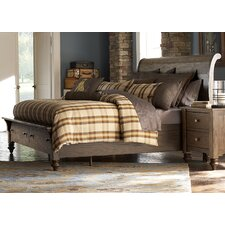Solid Living Storage Sleigh Bed