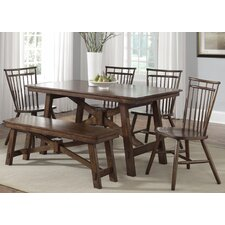 Creations II Casual Rectangular Leg Dining Table