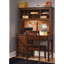 """Chelsea Square Youth Bedroom 44"""" W Computer Desk with Hutch"""