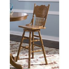 "Nostalgia Casual Dining 30"" Swivel Bar Stool"