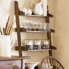 "Farmhouse Casual Dining 76"" Leaning Bookcase"