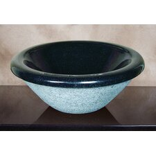 Hand Carved Self Rimming Classic Round Vessel Bathroom Sink