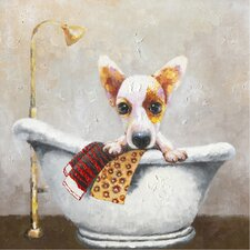 Revealed Artwork Bath Time I Painting Print on Wrapped Canvas