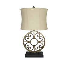 "30.24"" H Table Lamp with Oval Shade"