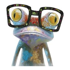 Revealed Artwork Hipster Froggy Original Painting on Wrapped Canvas