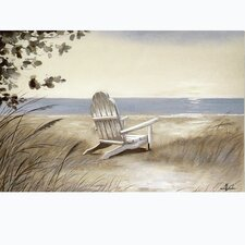 Beach Chair on the Sand Painting on Wrapped Canvas