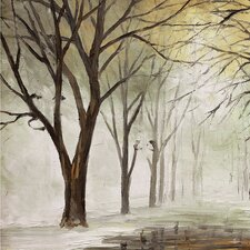 Park in the Winter Painting on Wrapped Canvas