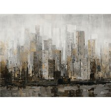 Grey Shades Painting Print on Wrapped Canvas