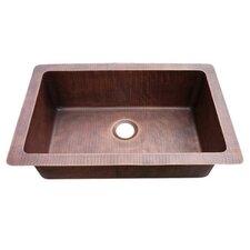 "9.5"" x 33"" Farmhouse Copper Kitchen Sink"