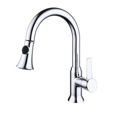 One Handle Single Hole Kitchen Faucet with Pull-Out