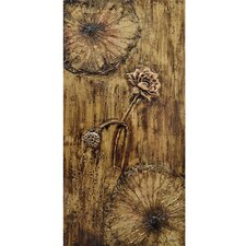 Revealed Art Floweret II Original Painting on Wrapped Canvas