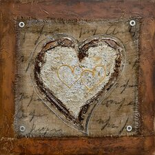 Revealed Art The Healing Heart III Original Painting on Wrapped Canvas