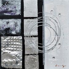 Revealed Art Back to Square III Original Painting on Wrapped Canvas