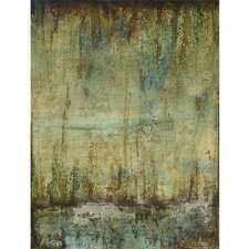 """Emerald Tranquility II"" Original Painting on Wrapped Canvas"