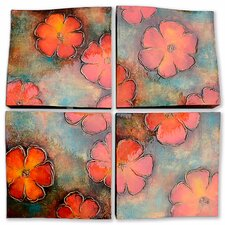 New Revealed Art Floral Charm 4 Piece Graphic Art on Wrapped Canvas Set (Set of 4)