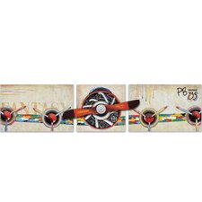New Revealed Art Propelled 3 Piece Original Painting on Wrapped Canvas Set