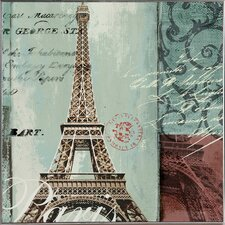 Revealed Art Eiffel Tower Graphic Art on Wrapped Canvas